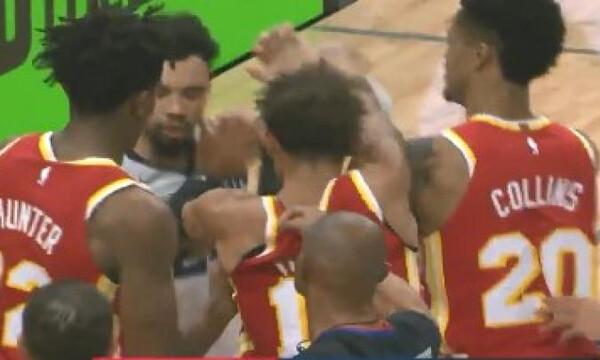 NBA: Ένταση και παραλίγο σύρραξη στο Χοκς-Γκρίζλις (video+photo)