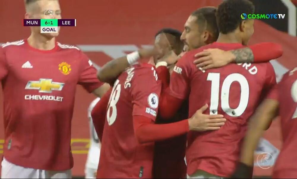 Premier League: Διέλυσε με «εξάρα» τη Λιντς η Μάντσεστερ Γιουνάιτεντ (video)
