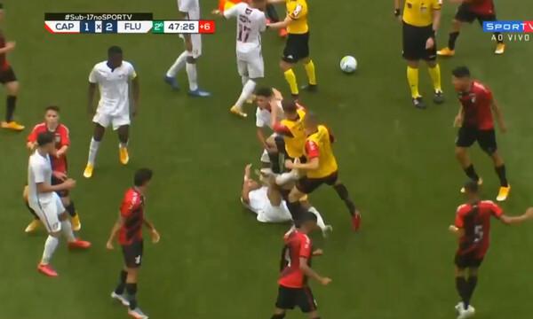 Σοβαρά επεισόδια, με άγριο ξύλο μεταξύ παικτών σε αγώνα (videos+photos)