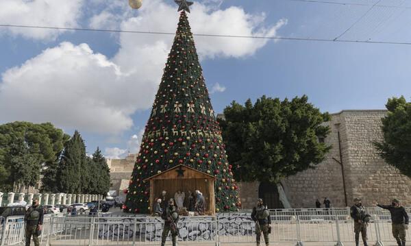 Τα σιωπηρά Χριστούγεννα στη Βηθλέεμ: Χωρίς τουρίστες και με ειδικό υγειονομικό πρωτόκολλο