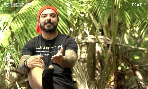 Survivor: Απίστευτη αποθέωση στο Twitter για τις τρύπιες κάλτσες του Τριαντάφυλλου (photos+video)
