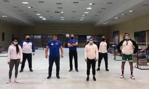 Ο Πύρρος Δήμας επισκέφτηκε την Προολυμπιακή ομάδα άρσης βαρών