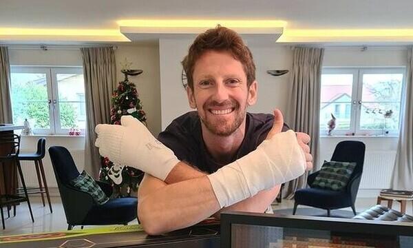Formula 1: Ο Γκροζάν αποκαλύπτει τα τραύματα στα χέρια του μετά το φρικτό ατύχημα (photos)