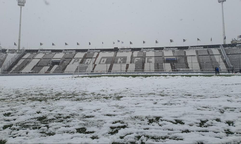 ΠΑΟΚ: Προπόνηση στο χιόνι (photos)