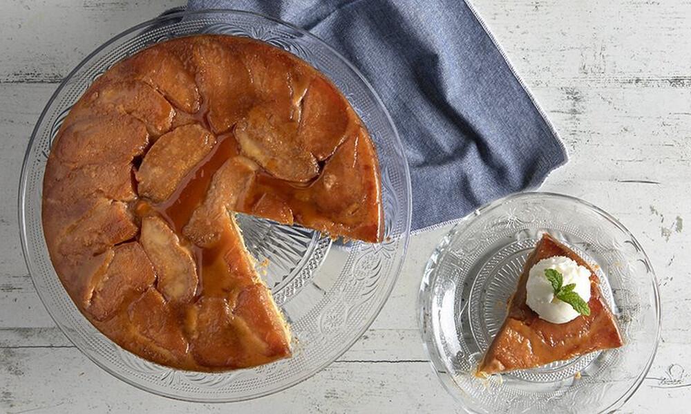 Άκης Πετρετζίκης: Ανάποδη τάρτα μήλου (Tarte Tatin)
