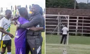 Βαριά τιμωρία για προπονητή που «πιάστηκε» να ουρεί στα δοκάρια για… γούρι (video)