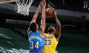 NBA: Πέρασαν από το Μιλγουόκι οι Λέικερς - Πάλευε μόνος ο Γιάννης (photos+video)