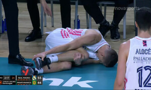 Ρεάλ-Παναθηναϊκός: Σοκαριστικός τραυματισμός του Κάρολ σε... εύστοχο τρίποντο (video)