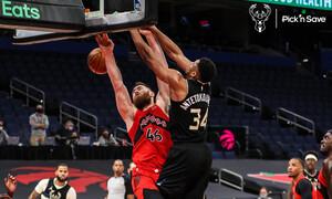 NBA: Ηγετικός Αντετοκούνμπο στη νίκη των Μπακς επί των Ράπτορς (videos)