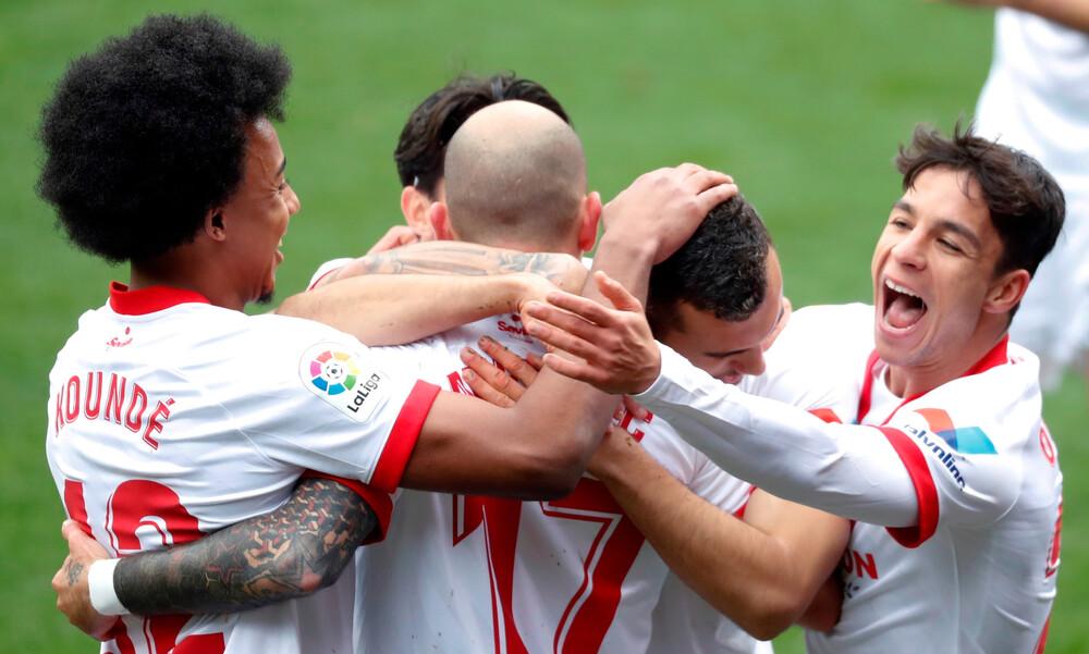 La Liga: Άνετη νίκη η Σεβίλλη και τρίτη θέση (video+photos)