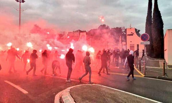 Μαρσέιγ: Αναβολή στο ματς με Ρεν μετά την εισβολή οπαδών στο προπονητικό (photos+videos)