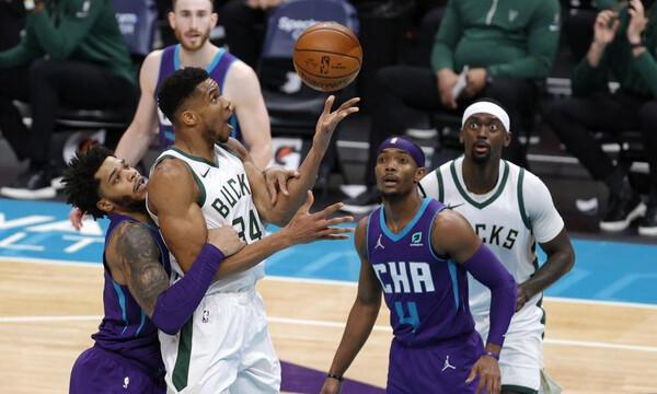 NBA: Τα καλύτερα του Γιάννη Αντετοκούνμπο με τους Χόρνετς (video+photos)