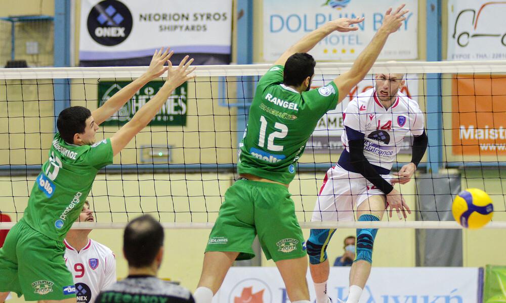 Φοίνικας Σύρου-Παναθηναϊκός 3-0: «Τρένο» προς τον τίτλο της Volley League