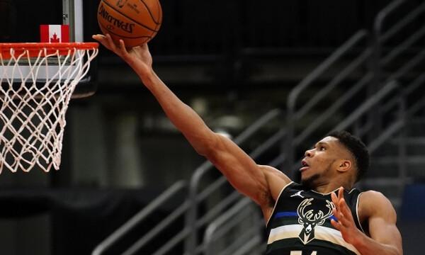 NBA: Γιάννης λαμπρός, οδηγεί τους Μπακς (video+photos)