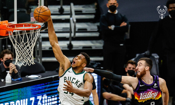 NBA: Μυθική εμφάνιση Αντετοκούνμπο, αλλά ήττα στον πόντο για Μπακς (videos)