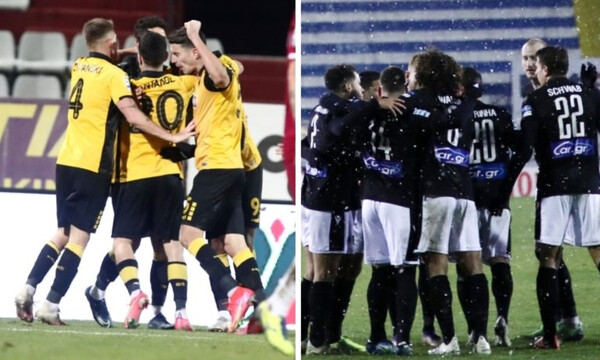 Super League: Χαμός στη βαθμολογία μετά τις νίκες ΠΑΟΚ και ΑΕΚ (photos)
