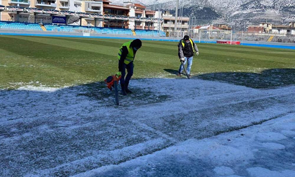 ΠΑΣ Γιάννινα-Παναθηναϊκός: Η κατάσταση του αγωνιστικού χώρου και το ματς Κυπέλλου (photos)