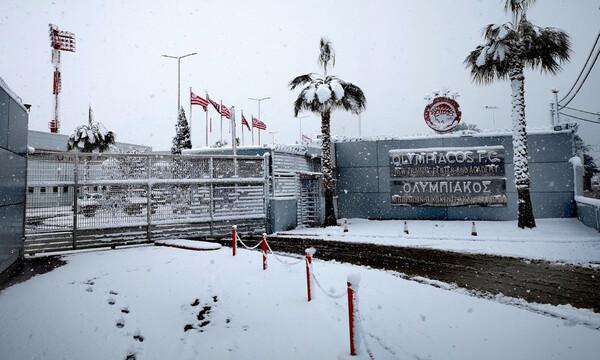 Ολυμπιακός: Η εσωτερική προπόνηση, ο χιονοπόλεμος και τα δεδομένα για Εμβιλά (photos+video)