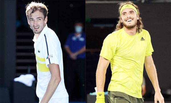 Australian Open: Μάχη Τσιτσιπά με Μεντβέντεβ για μια θέση στον τελικό