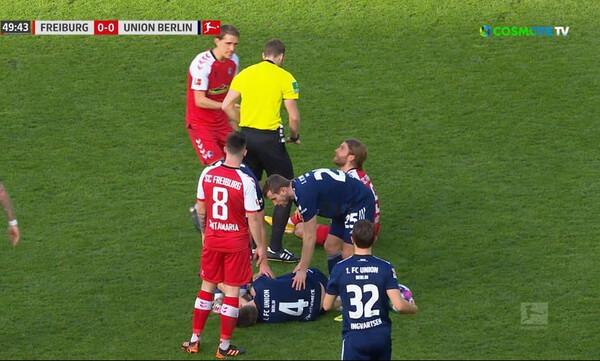 Bundesliga: Ανατριχιαστικό μαρκάρισμα που δεν έφερε αποβολή!