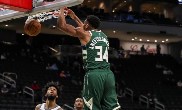 NBA: Πήραν φόρα οι Μπακς - Εντυπωσιακός Αντετοκούνμπο (photos+video)