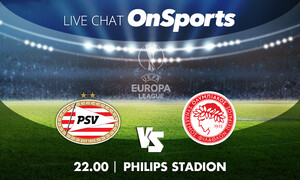 Live Chat Αϊντχόφεν-Ολυμπιακός 2-0