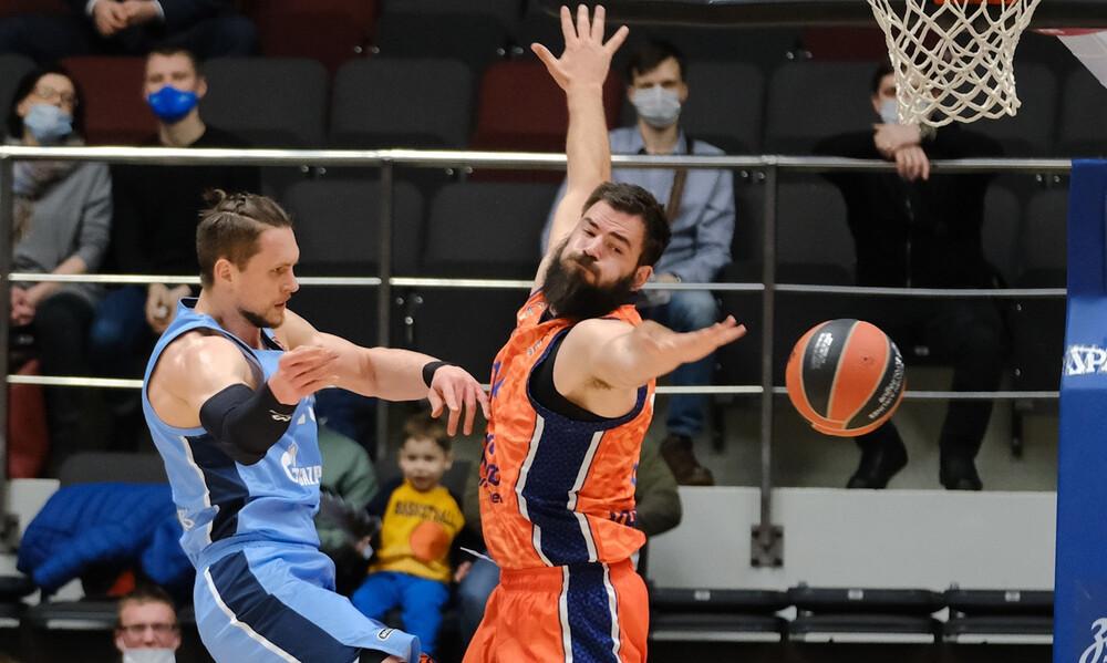 Ζενίτ Αγ. Πετρούπολης-Βαλένθια 62-91: Σαρωτική με Ντούμπλιεβιτς!