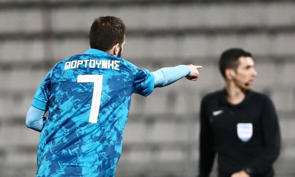 ΝΠΣ Βόλος-Ολυμπιακός: Γκολ με το... καλησπέρα - Έτσι σκόραρε ο Φορτούνης (video)