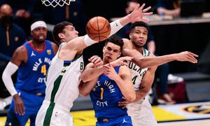 NBA: Συντριβή για Μπακς από Νάγκετς - Πάλευε μόνος ο Γιάννης (photos+video)