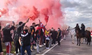 Χαμός πριν το Ατλέτικο-Ρεάλ: Χιλιάδες οπαδοί έξω από το «Wanda Metropolitano» (videos+photos)