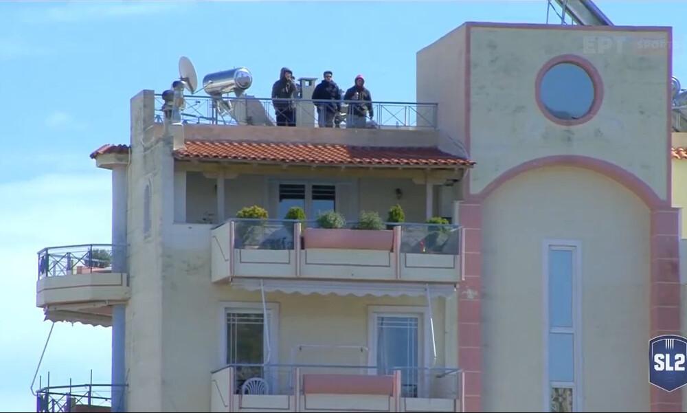 Ιωνικός-Διαγόρας: Γεμάτες οι εξέδρες-ταράτσες στη Νίκαια (video)