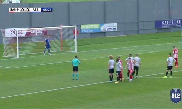 Ξάνθη-Λεβαδειακός: Γκολ με τη… δεύτερη ο Έμπερτ (video)