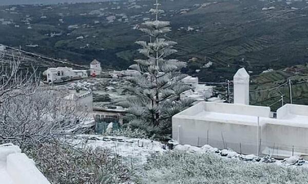 25η Μαρτίου: Χιόνισε σε Αττική, Τήνο και Κρήτη - Εντυπωσιακές εικόνες