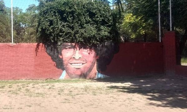Ντιέγκο Μαραντόνα: Το πιο ξεχωριστό γκράφιτι του «Θεού» της μπάλας (photo)