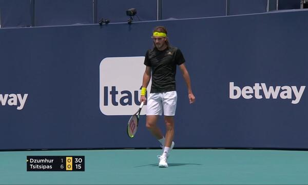 Miami Open: Άνετος κι ωραίος στην πρεμιέρα ο Τσιτσιπάς (video)