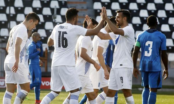 Ελλάδα-Ονδούρα 2-1: Με «διπλό» Παυλίδη και επιθετικά πριν τη Γεωργία