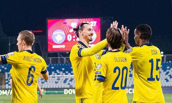 Προκριματικά Μουντιάλ 2022: Εύκολα η Σουηδία με την «υπογραφή» Ζλάταν - Όλα τα γκολ (videos)