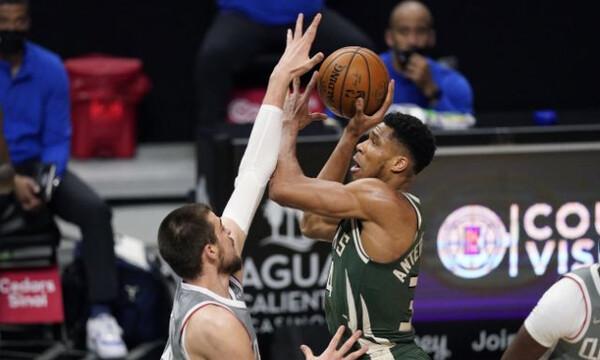 NBA: Δεν έφτανε ο Γιάννης - Υπέταξαν τους Μπακς οι Κλίπερς (photos+video)