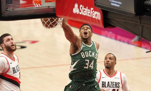 NBA: Απολαυστικός Αντετοκούνμπο - Μεγάλη νίκη για Μπακς (photos+video)