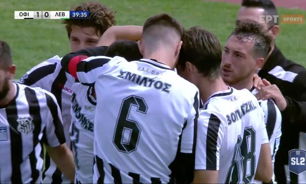 ΟΦ Ιεράπετρας-Λεβαδειακός: Πέναλτι και γκολ με Κούστα (video)