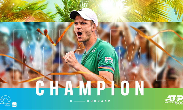 Miami Open: Θρίαμβος του Χούρκατς - Κούπα μετά την ανατροπή με Τσιτσιπά (video)