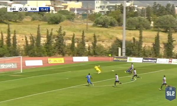 ΟΦ Ιεράπετρας-Χανιά: Τρομερό γκολ από τον δεξιό μπακ των Χανιωτών (video)