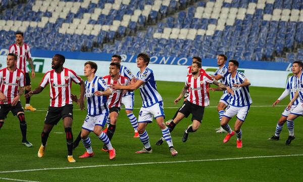 La Liga: Θρίλερ στο τέλος και «Χ» στο ντέρμπι των Βάσκων Ρεάλ Σοσιεδάδ-Μπιλμπάο (video+photos)