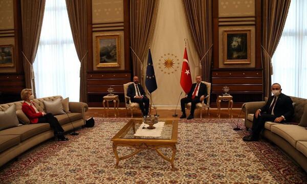 Κατακραυγή για Ερντογάν: Αυτός είναι ο σεβασμός των Τούρκων στις γυναίκες - Σάλος με το «sofa gate»