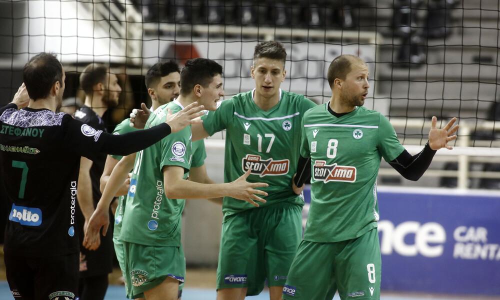 Volley League: Ο Παναθηναϊκός νίκησε εκτός τον ΠΑΟΚ, οριστικά 2η η Σύρος! (Video)