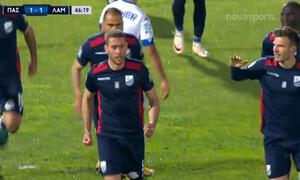 ΠΑΣ Γιάννινα-Λαμία: Ο Τζανετόπουλος ισοφάρισε και παραλίγο να πετύχει κι αυτογκόλ! (video)