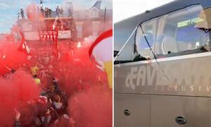 Λίβερπουλ - Ρεάλ Μαδρίτης: Επίθεση στο πούλμαν των Ισπανών με πέτρες και φωτοβολίδες (video+photos)