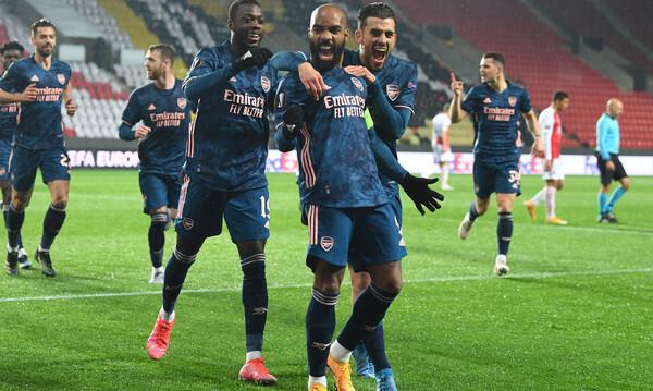 Europa League: «Σάρωσε» την Σλάβια Πράγας η Άρσεναλ, άντεξε και πέρασε στους «4» η Ρόμα- Όλα τα γκολ