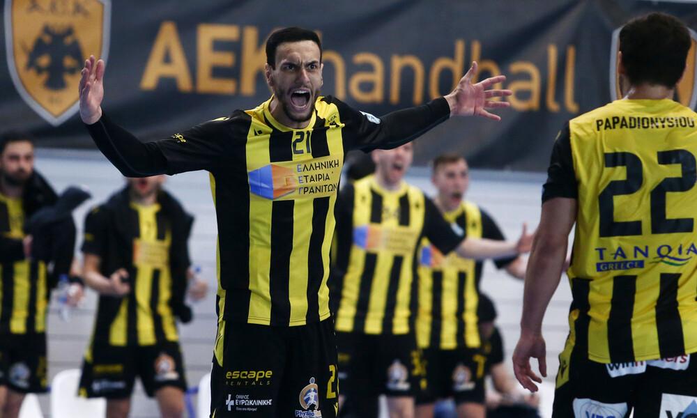 EHF European Cup: Μικρό προβάδισμα η ΑΕΚ για τελικό