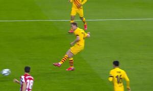 Copa Del Rey: Κρύφτηκε η μπάλα… τη βρήκαν στο δοκάρι! (Video)